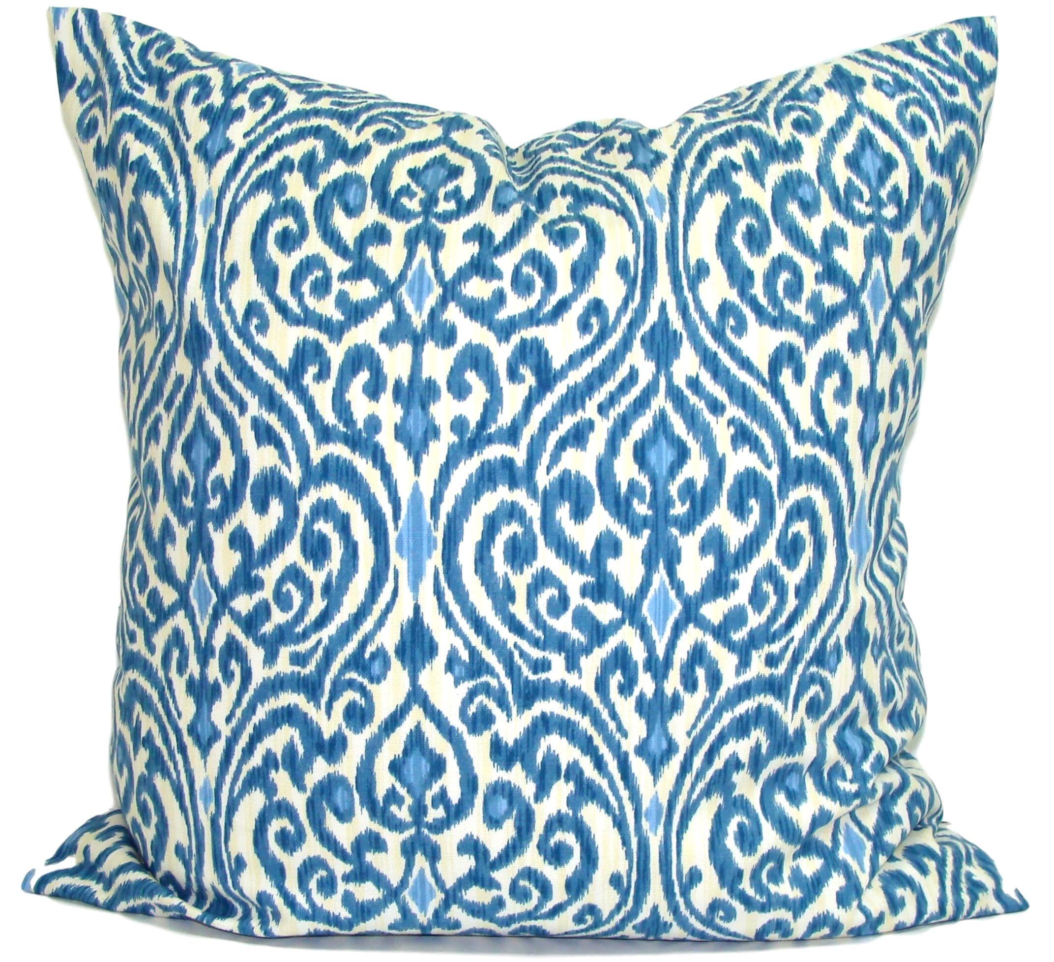 Indigo Blue Pillow Cover Blue Throw Pillow Cover Blue Pillow Cover Cushion Decorative Pillow Indigo Blue Pillows
