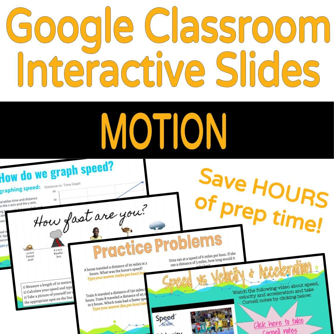 Google Classroom Interactive Slides Motion Physical