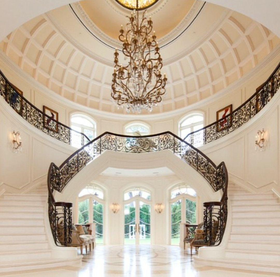 Luxury Mansion Interior Qatar On Behance: Luxury Home Decor, Luxury Homes, Foyer Staircase