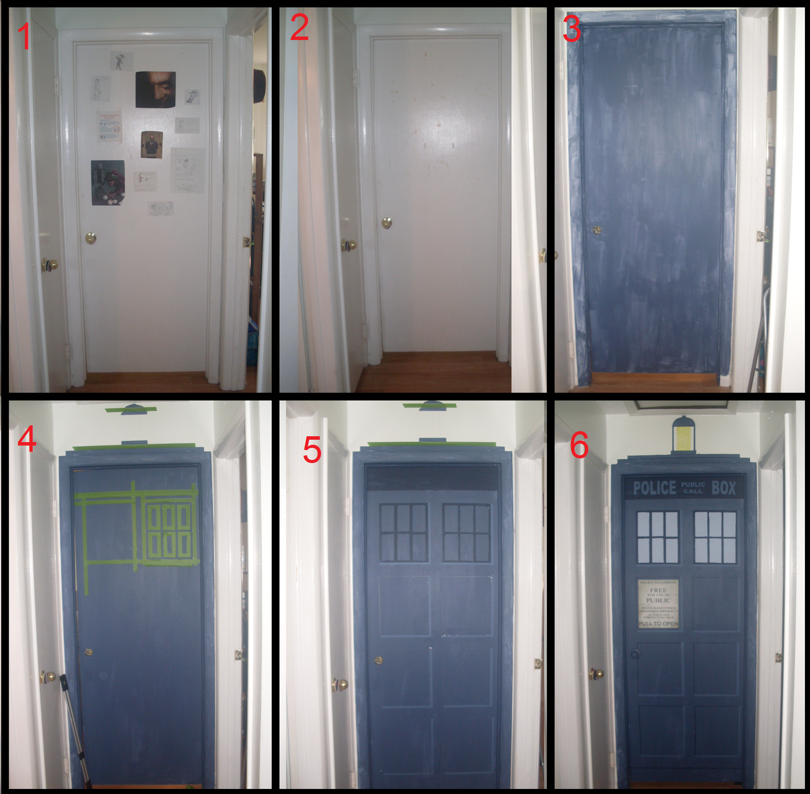 My Son Wants The TARDIS Painted On His Bedroom Door. Now I