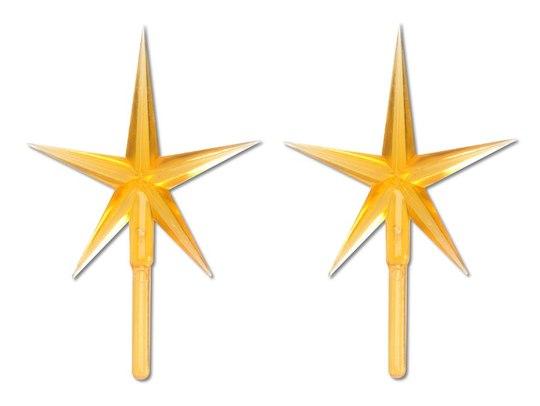 Darice Ceramic Christmas Tree Star Topper: Gold, 2 Pack