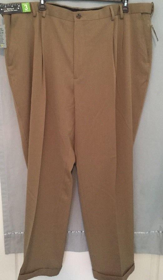 NWT Izod Big & Tall Mens Travel Pants Size 50/32 Retail $80 Classic Leg #IZOD #DressPleat