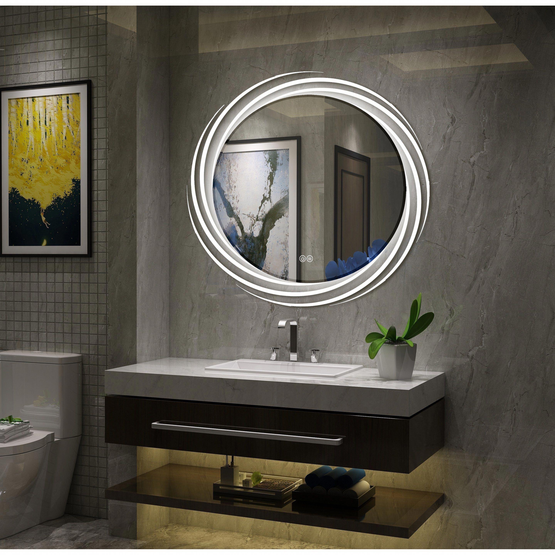 ec51b0ef1e57 Frameless Wall Mounted LED Bathroom Mirror, White #bathroommirrors ...