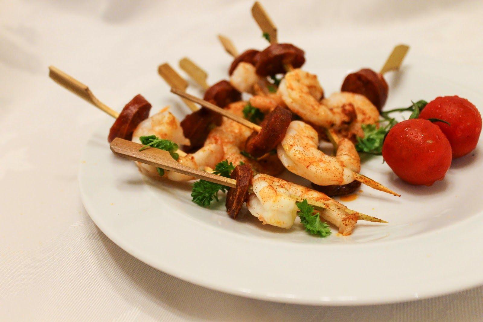 eat like you love yourself: Chorizo and Prawn Skewers