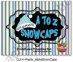 Cut-n-Paste A to Z Snow Caps  product from RFTS-Preschool on TeachersNotebook.com