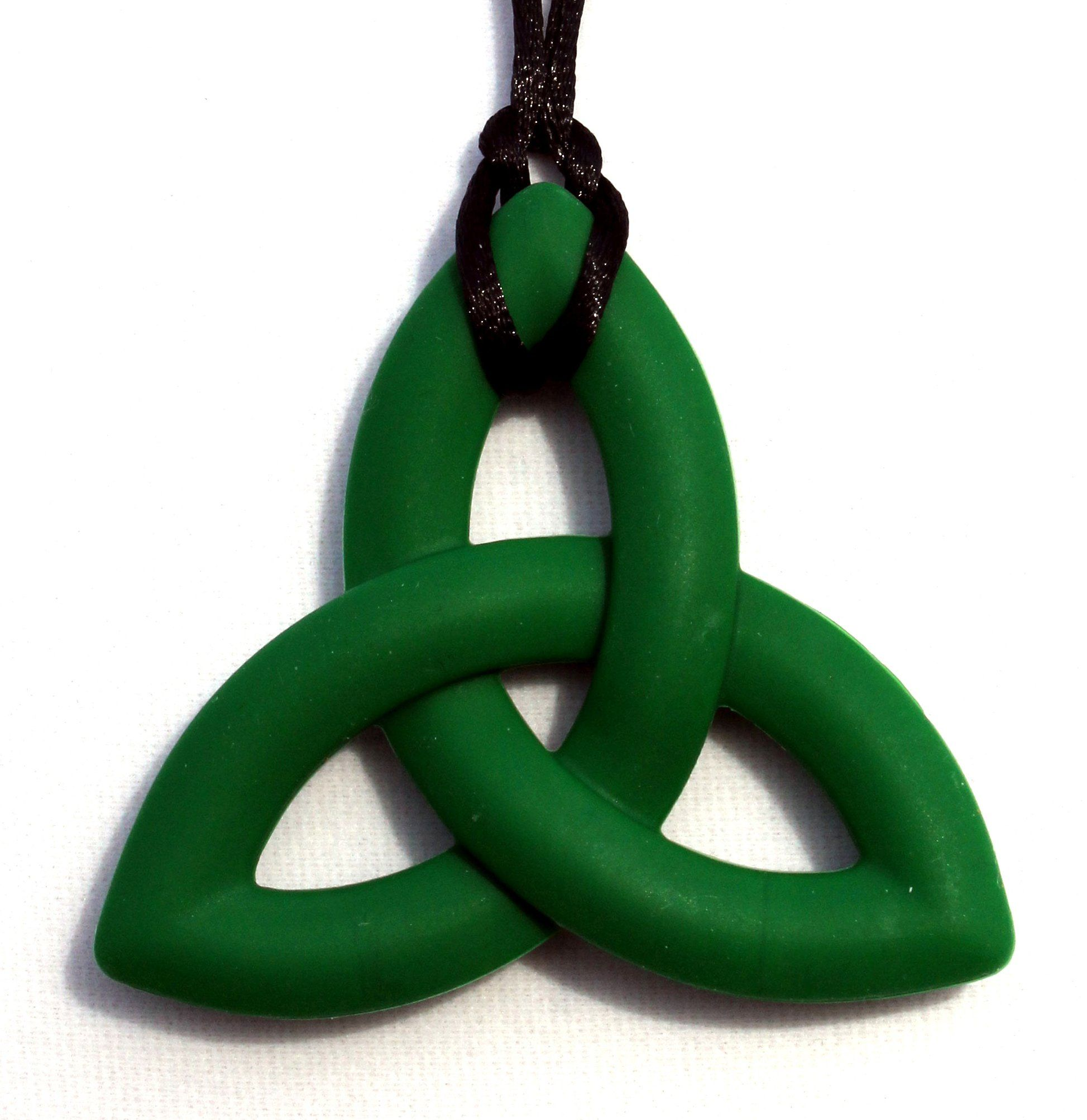 Peacemaker jewelry trinity knot silicone teething pendant necklace peacemaker jewelry trinity knot silicone teething pendant necklace green mozeypictures Gallery