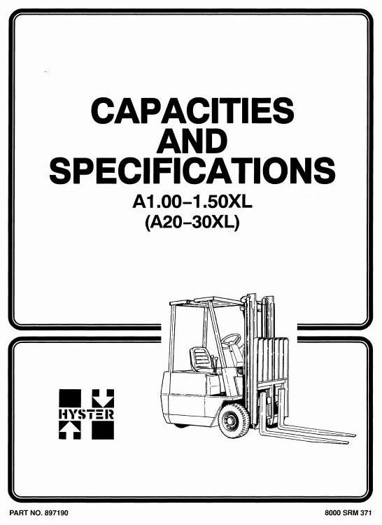 original illustrated factory workshop manual for hyster forklift truck type  a203 original factory manuals for hyster forclift trucks, contains high  quality