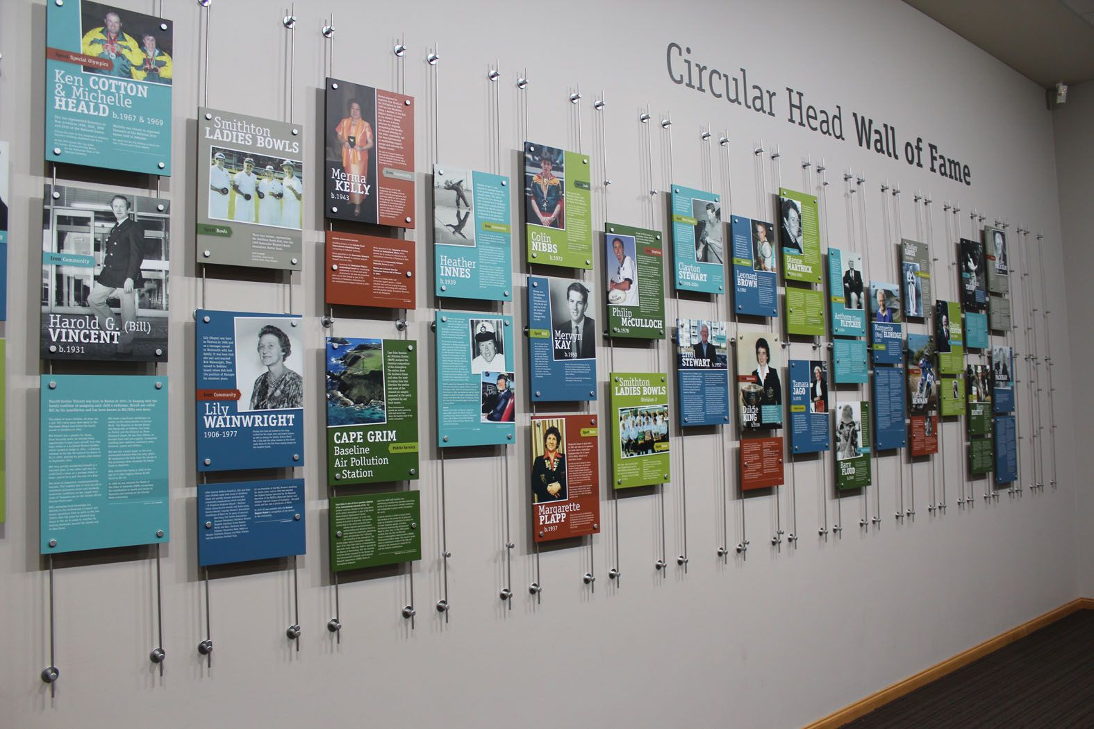 Circular Head Hall Of Fame Office Wall Design History Wall
