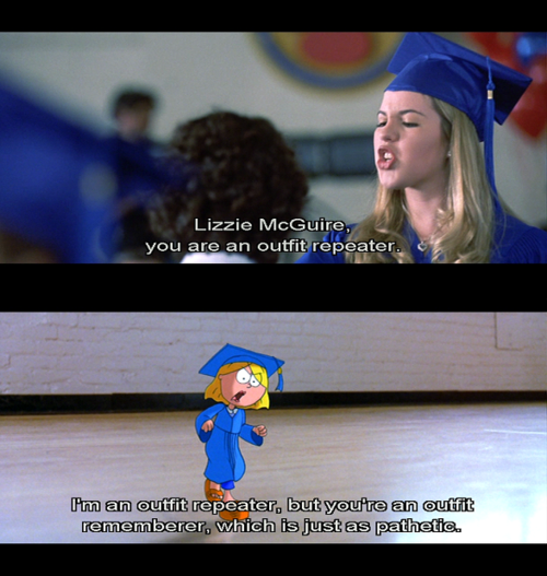 """Lizzie McGuire, you are an outfit repeater!"""" #LizzieMcGuire 