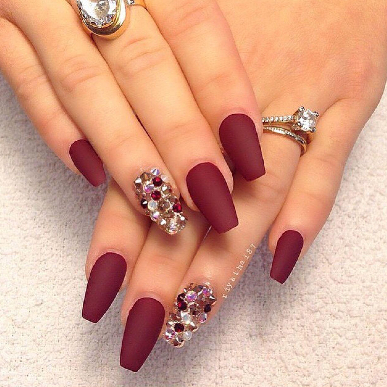 Pin De Texenery Silvera Em Disenos De Unas Nails Maroon Nails E Claw Nails Designs