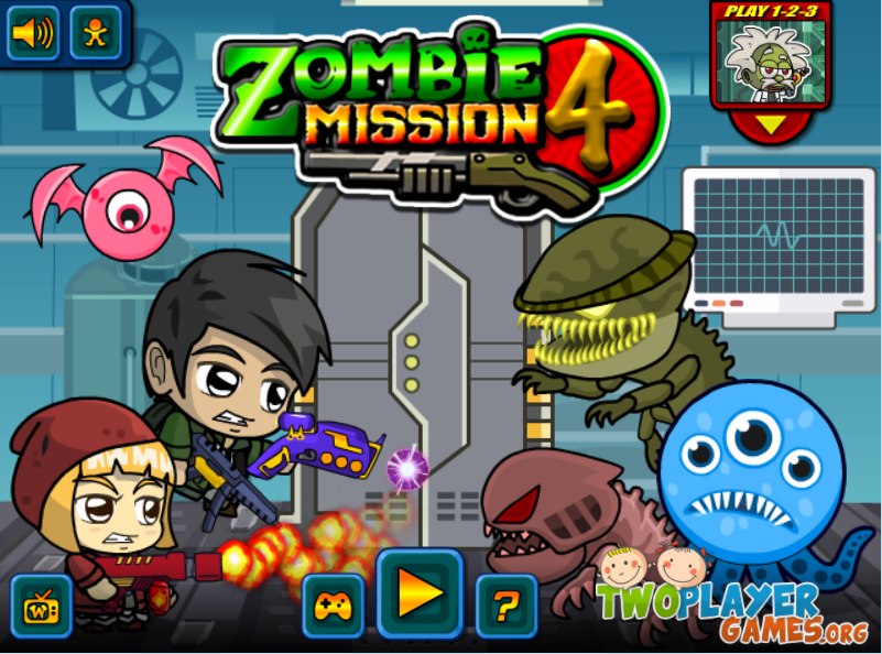 Zombie Mission 4 Crazy Games Two Player Games Free Online Games