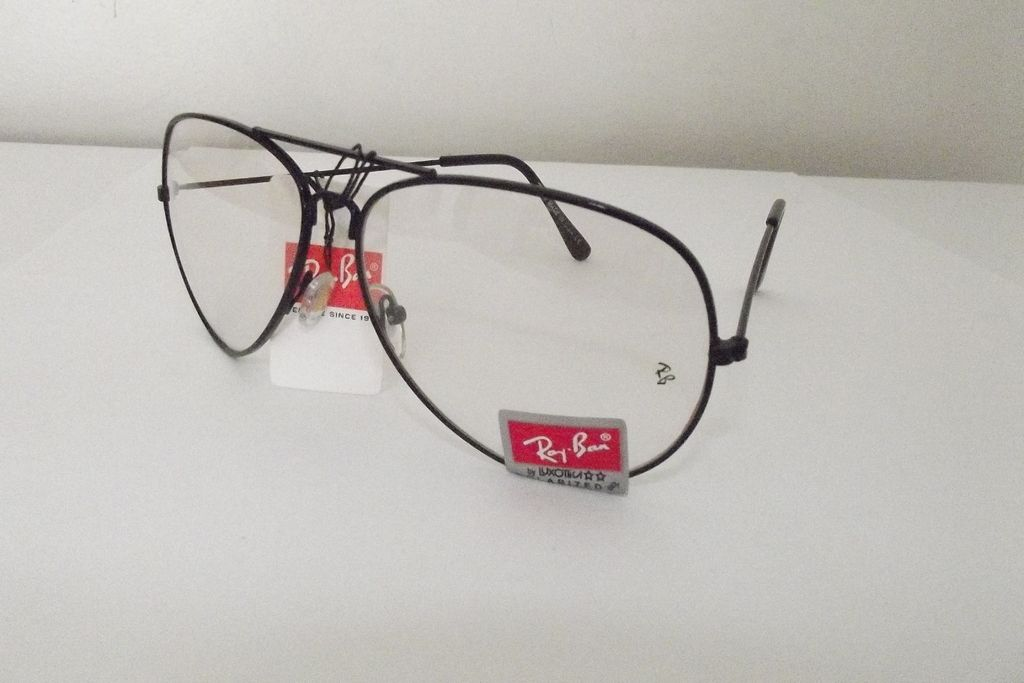 Armação Óculos Grau Ray Ban Preto Aviador — Barbara Euro Shopping