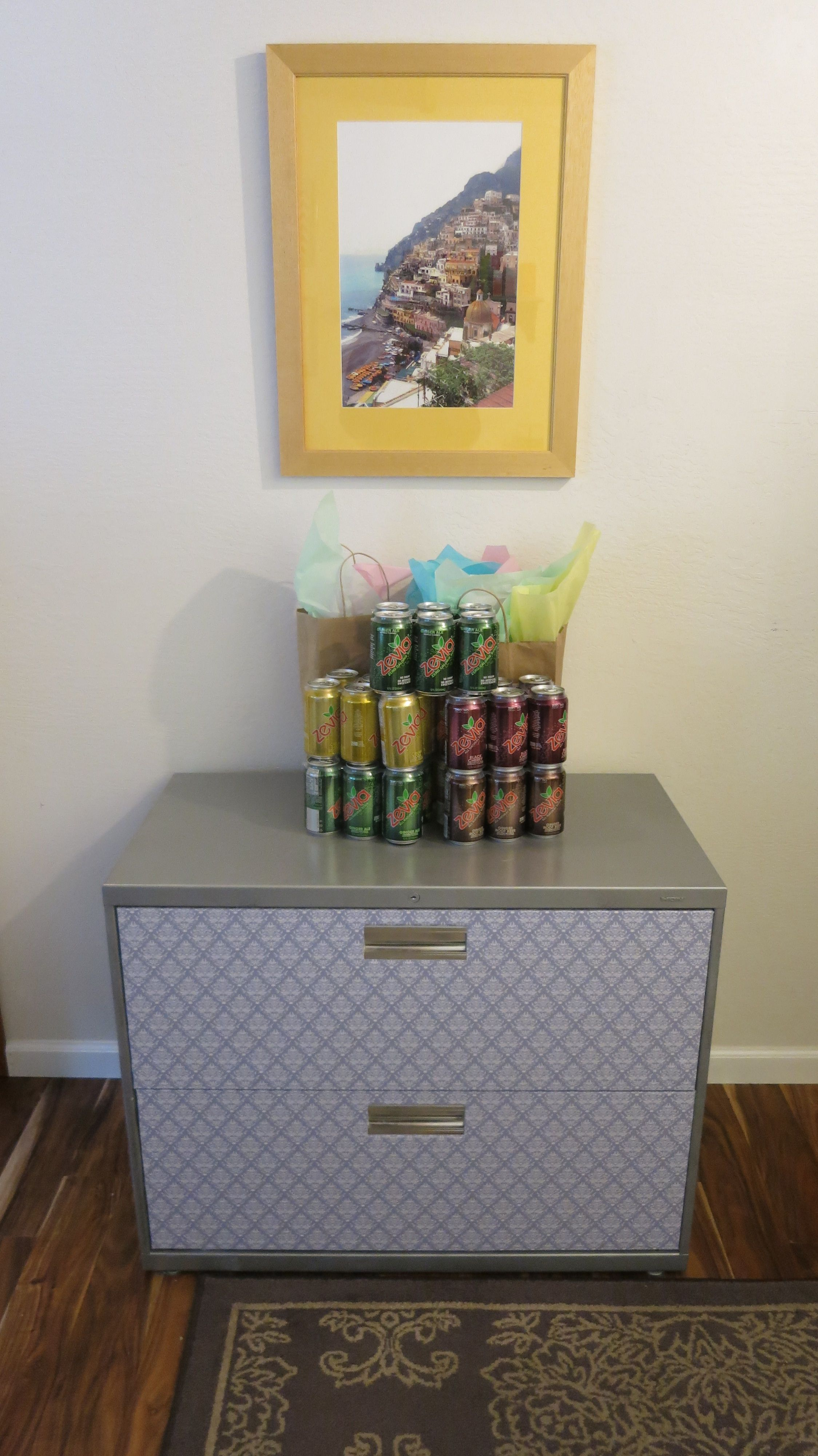 Diy Refinished And Painted Cabinet Reviews: Refinished Filing Cabinet! Silver Spray Paint And Shelf