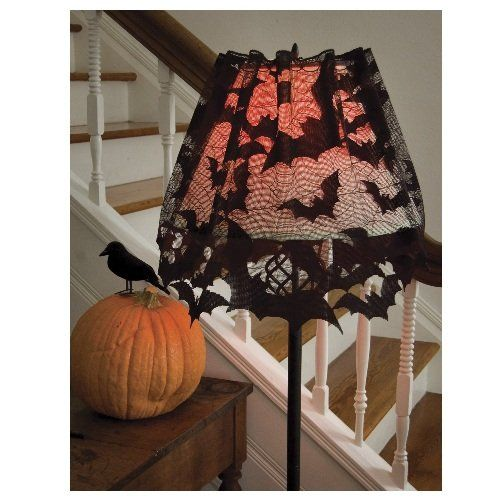 Amazon.com - Heritage Lace Going Batty 60-Inch Wide by 20-Inch Drop 4-Way, Black