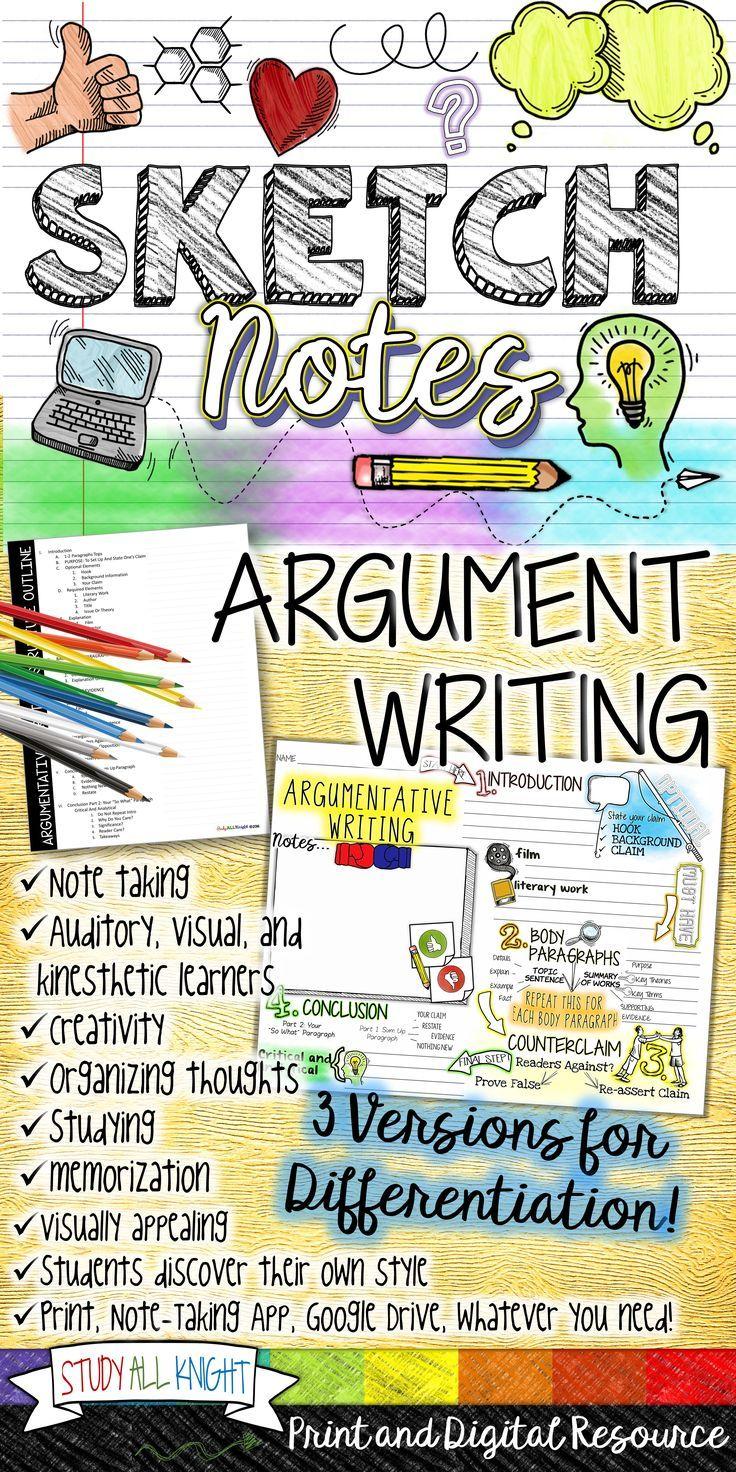 Argumentative Writing Argument Writing Essay Outline Teacher