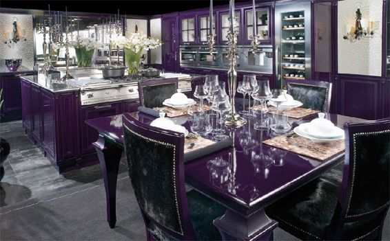 Brummel Cucine Fine Italian Kitchens Interior Design Inspiration Eva Designs Purple Kitchen Black Decor