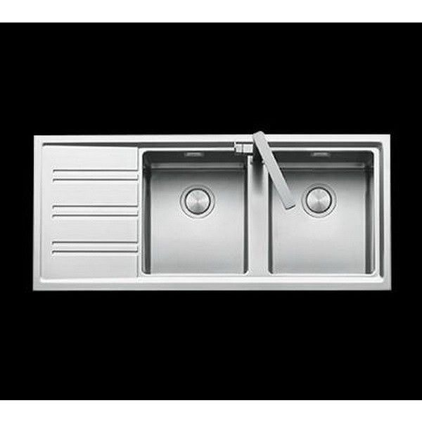 Abey Barazza Double Right Hand Steel Sink 1160x500m 이미지 포함