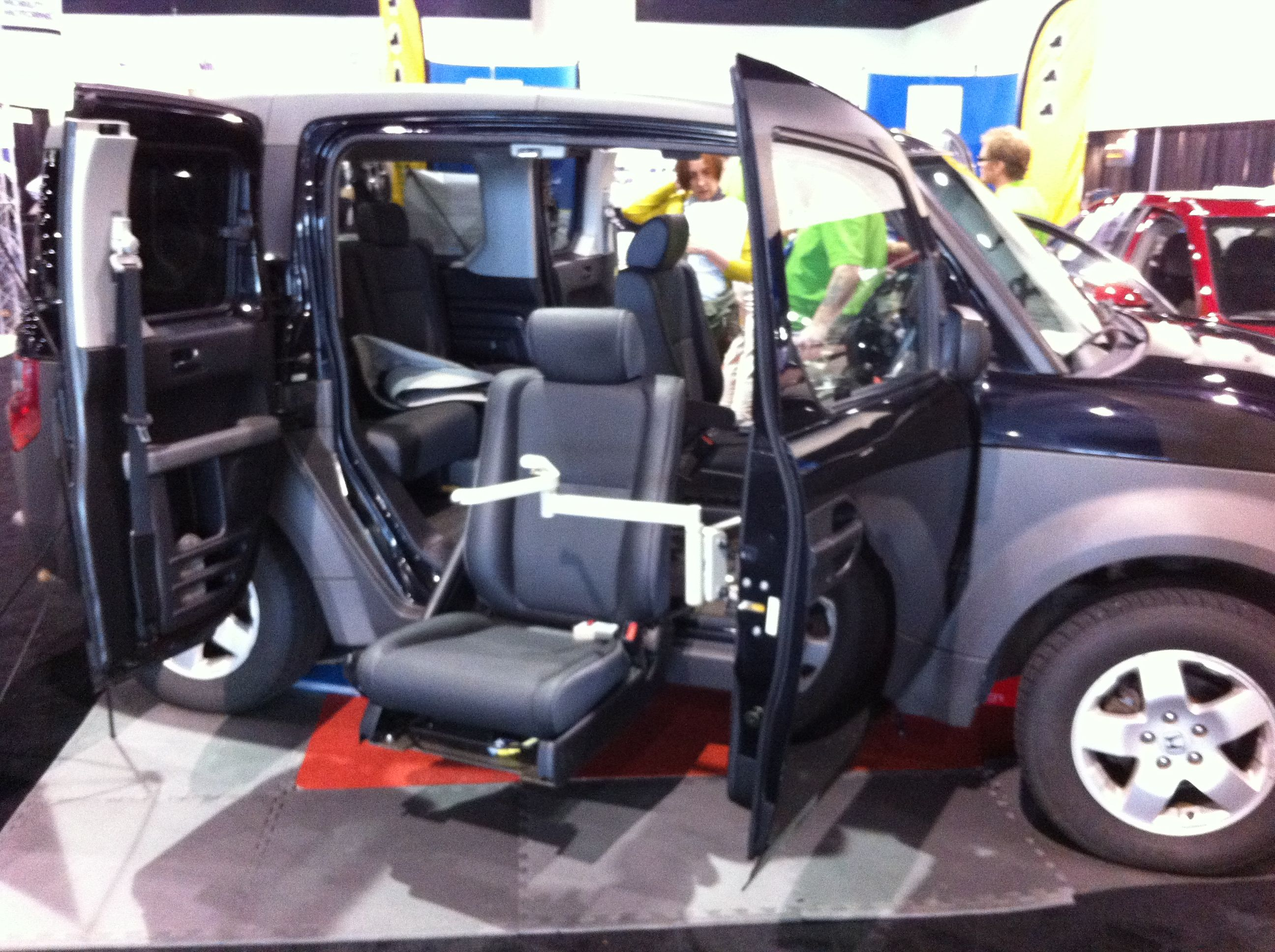 Access Unlimited fold away transfer seats in a @Honda Element #NMEDA | 22nd Annual NMEDA ...