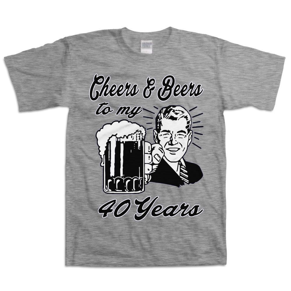 Retro Man 40th Birthday Shirt Gift For Forty Year Old 40 Cheers And Beers To My