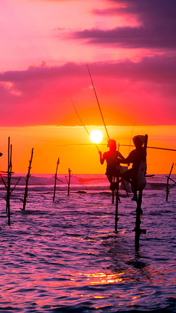 Tap And Get The Free App Shining Sky Sunset Fishing Sea