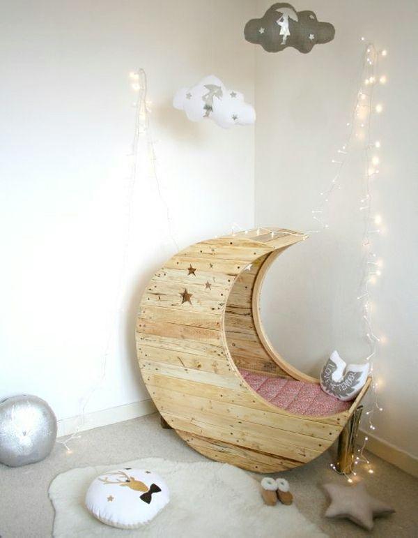 Kinder-Schaukel-Bett Wer will nicht mal auf den Mond - kinderzimmer kreativ gestalten ideen