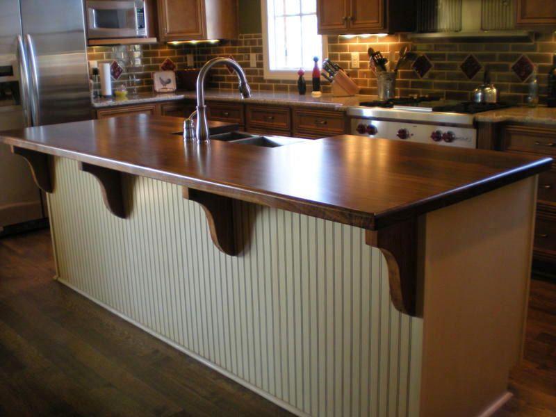 Photos Butcher Block Countertops For Islands  Walnut Island Top Fair Kitchen Island Counter Review