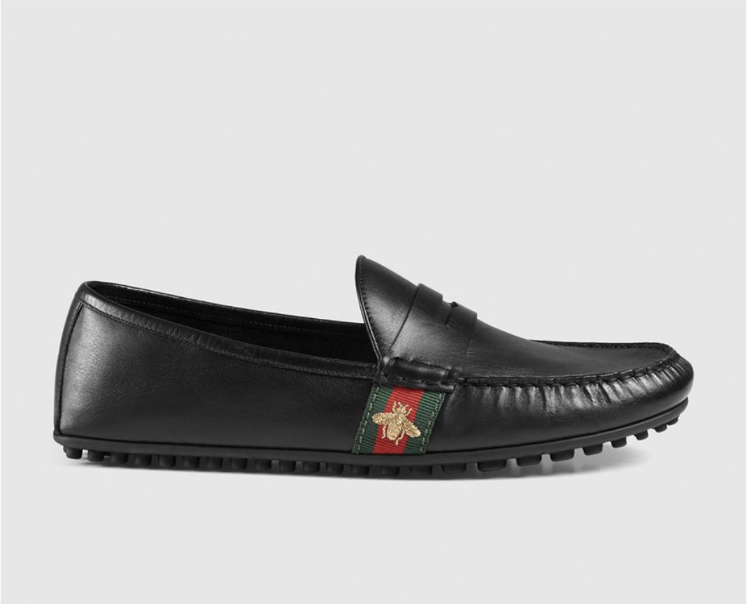 67e8508839f4 Mens Footwear   Gucci Leather Driver with Web and Bee    650 AUD ...