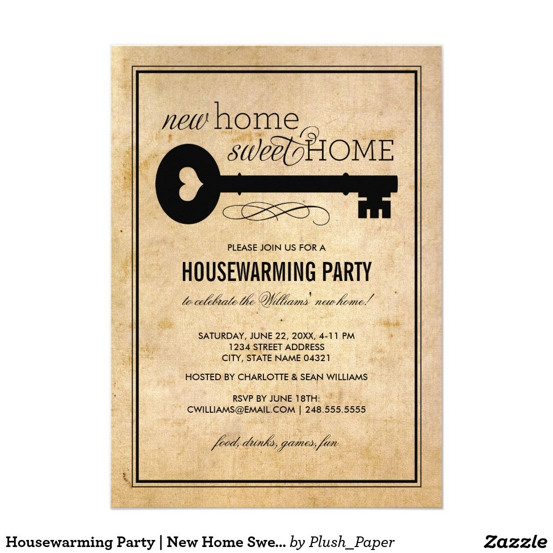 Housewarming Party | New Home Sweet Home Card | Housewarming party