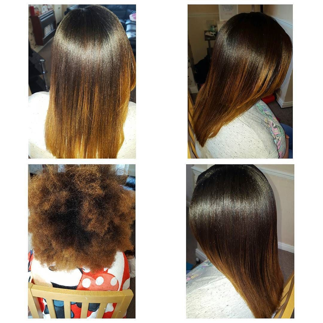 Magic straight perm vs keratin - Before And After A Fresh Relaxer