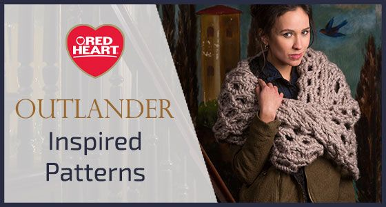 Two knit and one crochet project for you to do, inspired by the Outlander TV series.
