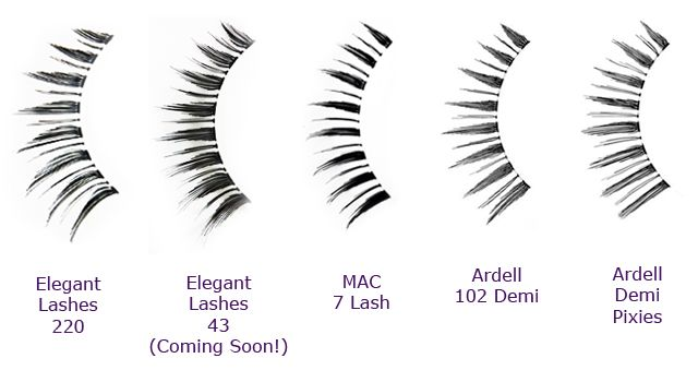 79149f42959 Elegant Lashes 220 Black False Eyelashes_MAC 7 lash and Ardell demi pixies, 102  demi lash dupe