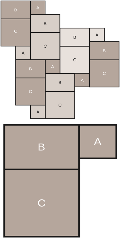 Stone tile laying pattern - Marshalls 3-way Opus | Marshalls Tile ...