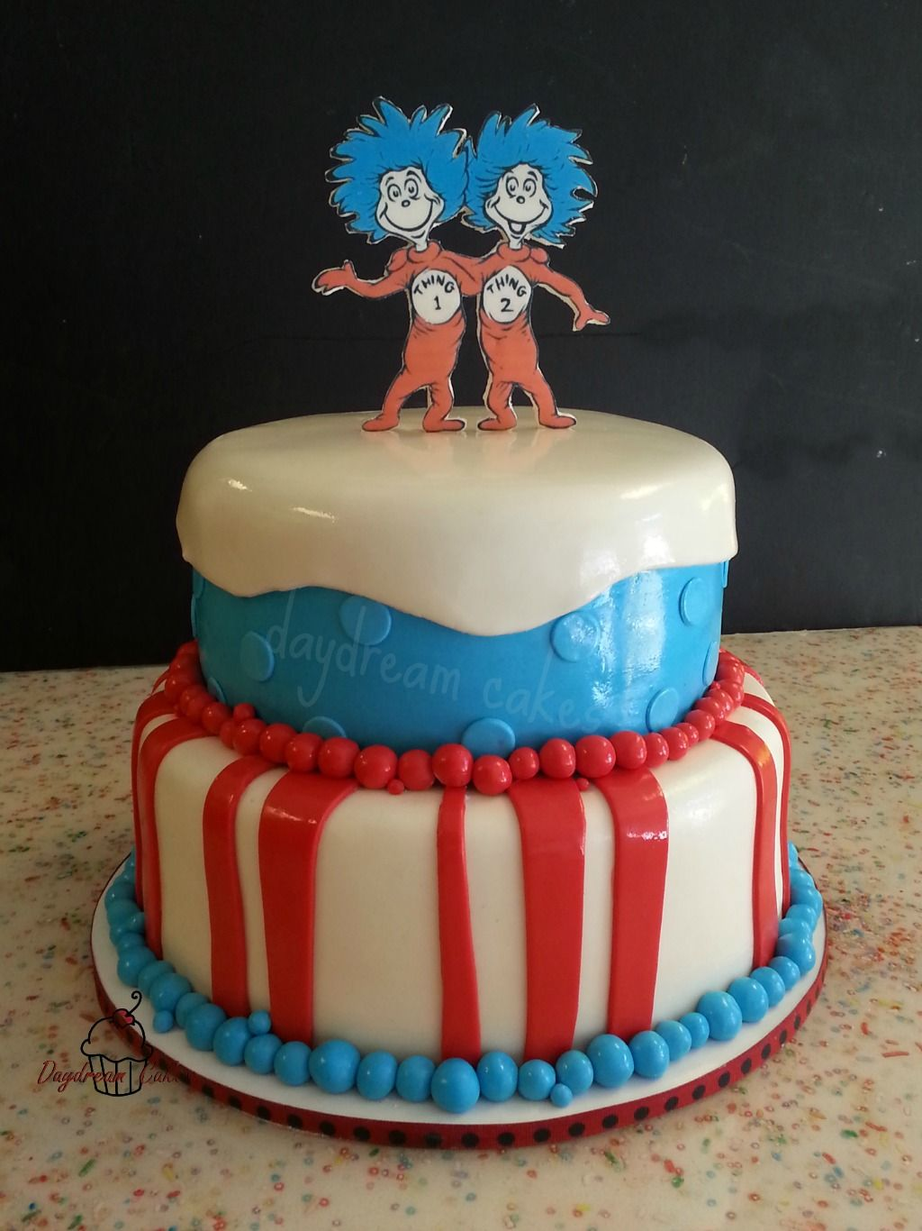 Thing 1 And Thing 2 Birthday Cake Thing 1 And Thing 2 Pinterest