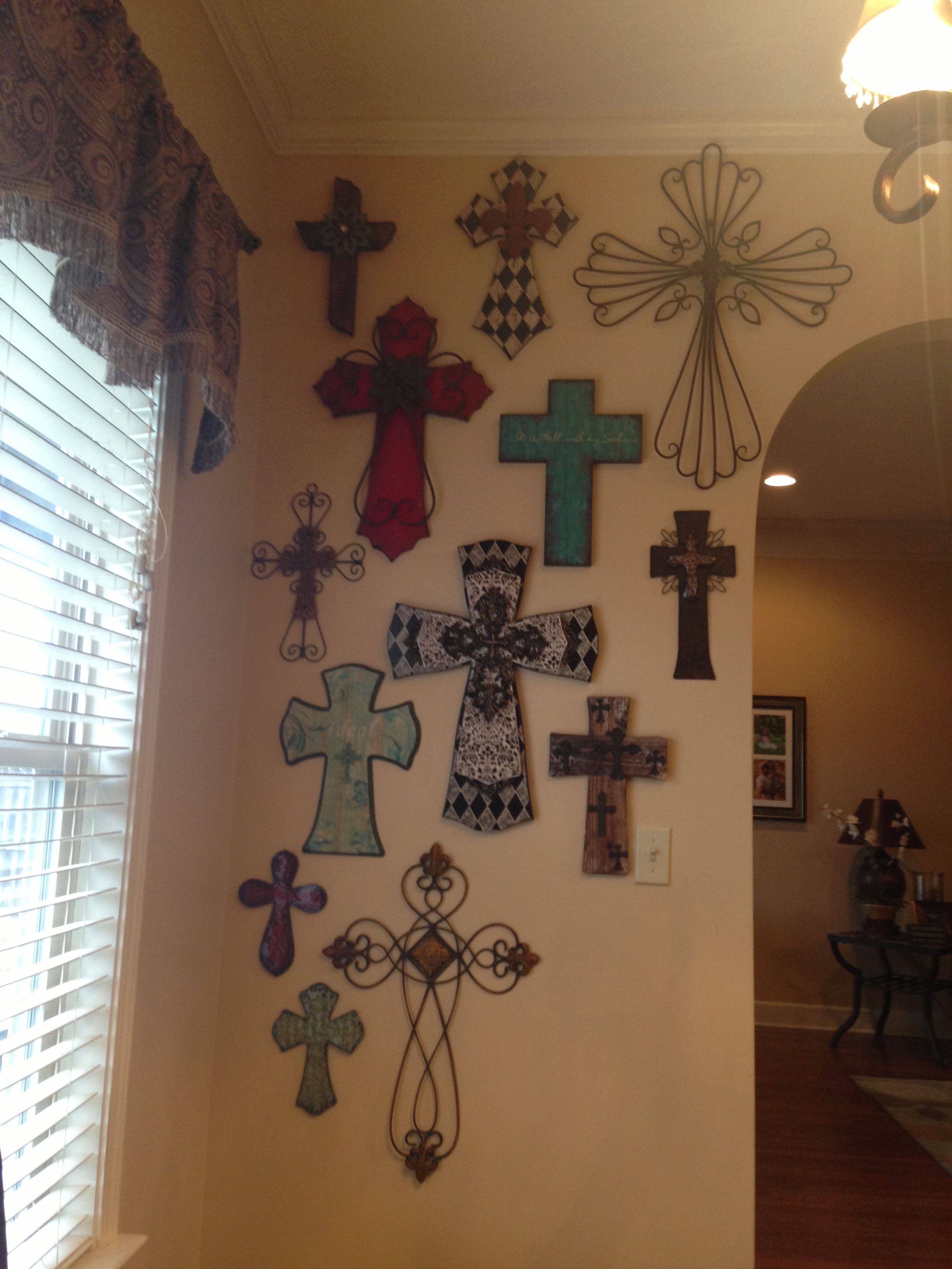 My cross wall. LOVE!!!! | Dream house | Pinterest | Cross walls ...