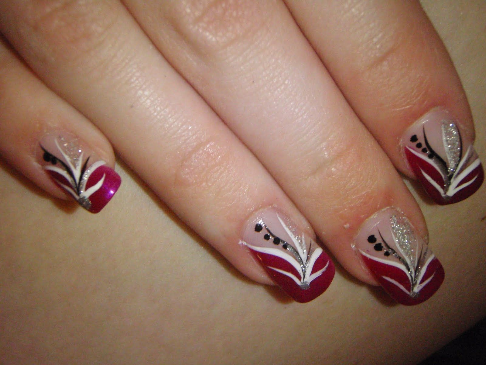 Red White And Black Nail Designs For These To Grow Out Now So