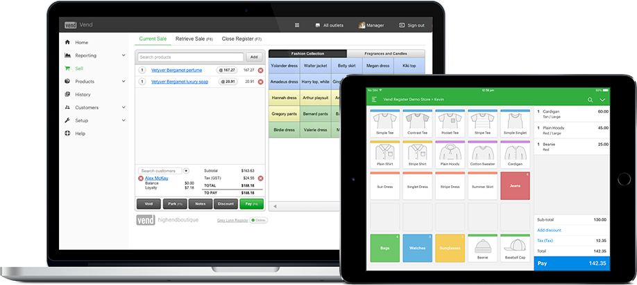 Point of Sale Software for retail stores free trial Vend