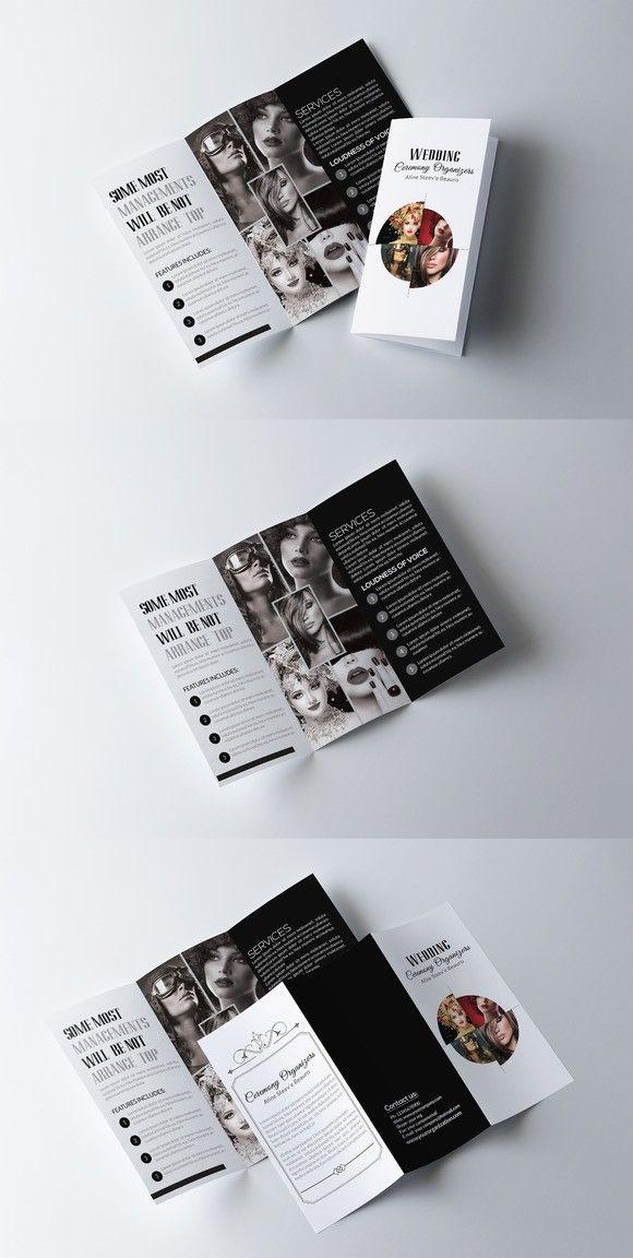 Fashion Trifold Brochure Template Business Card Design Creative Cards