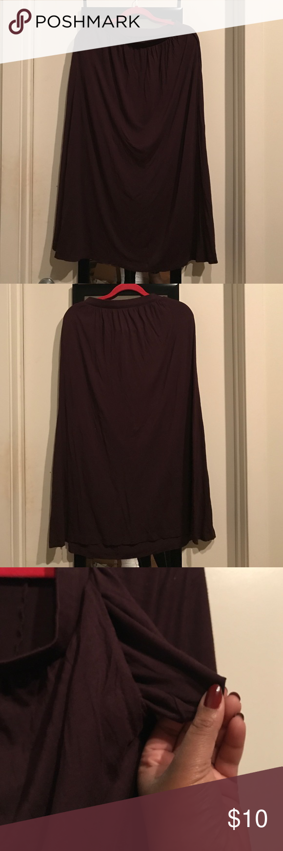Purple H&M maxi skirt with pockets 🌻 Bo.ho. Chic. <- this skirt is all about look great casual or dressy casual with the right accessories. Cinched at the waist and ankle length on me (I'm 5ft 8). Open to offers! Better deals when you bundle! H&M Skirts Maxi