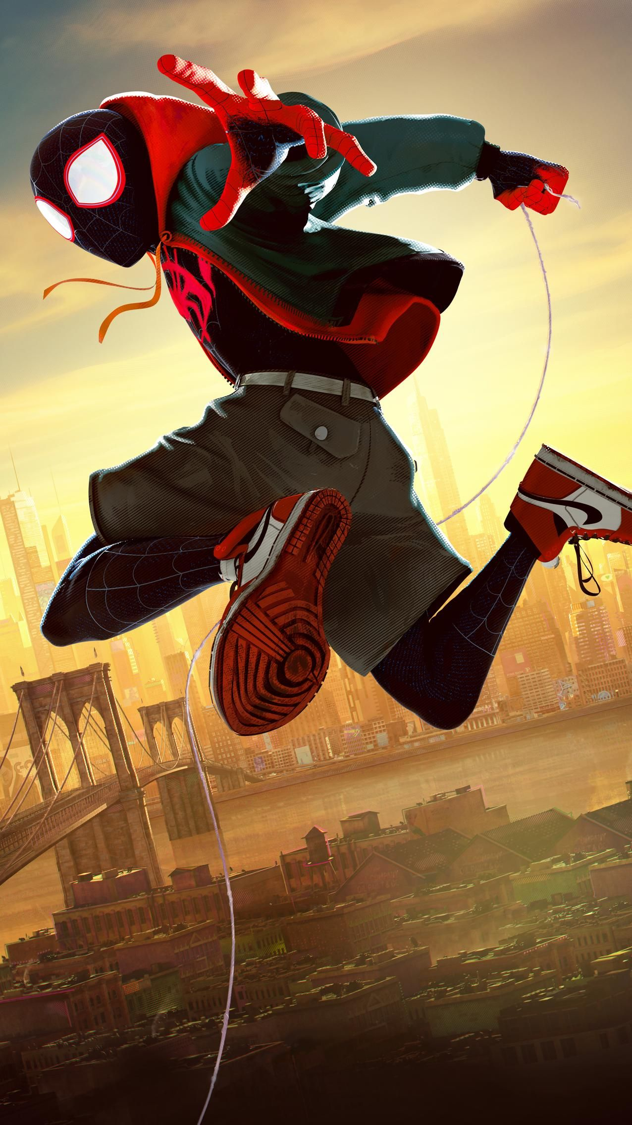 SpiderMan Into the SpiderVerse (2018) Phone Wallpaper