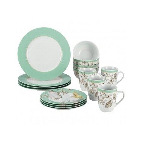 16-Piece Fruitful Nectar  Porcelain Dinnerware Set Tableware Microwave Safe NEW