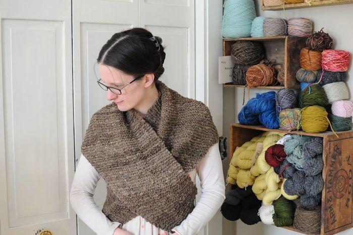 Love the shawl and the yarn storage