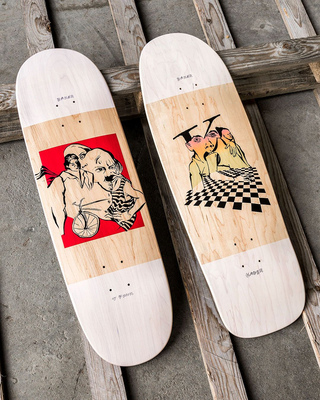 34fd27777f Old School shapes by Baker Skateboards - the Mind Bends series with artwork  by Kevin