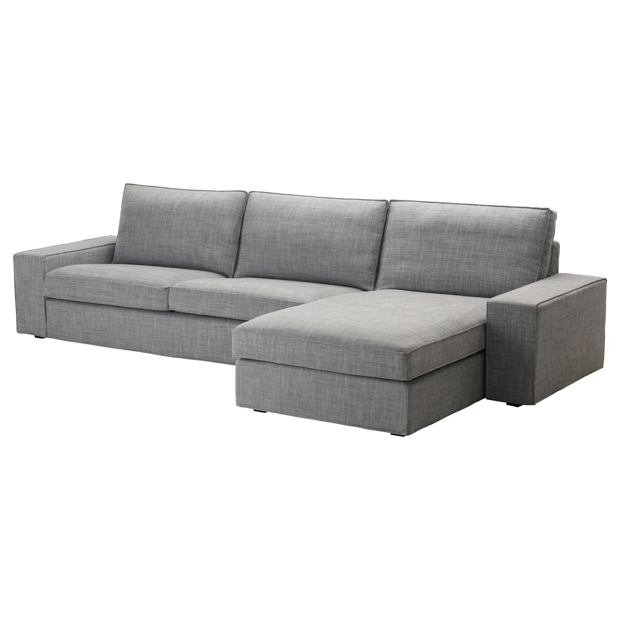 Ikea Kivik Sessel Kivik Sofa And Chaise Lounge Isunda Gray Ikea Living Room