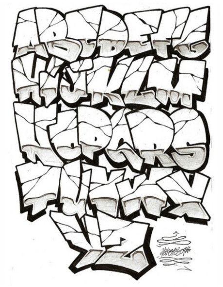 Graffiti Alphabet   Graffiti Alphabet Letters A-Z Chrome   Graffiti ...