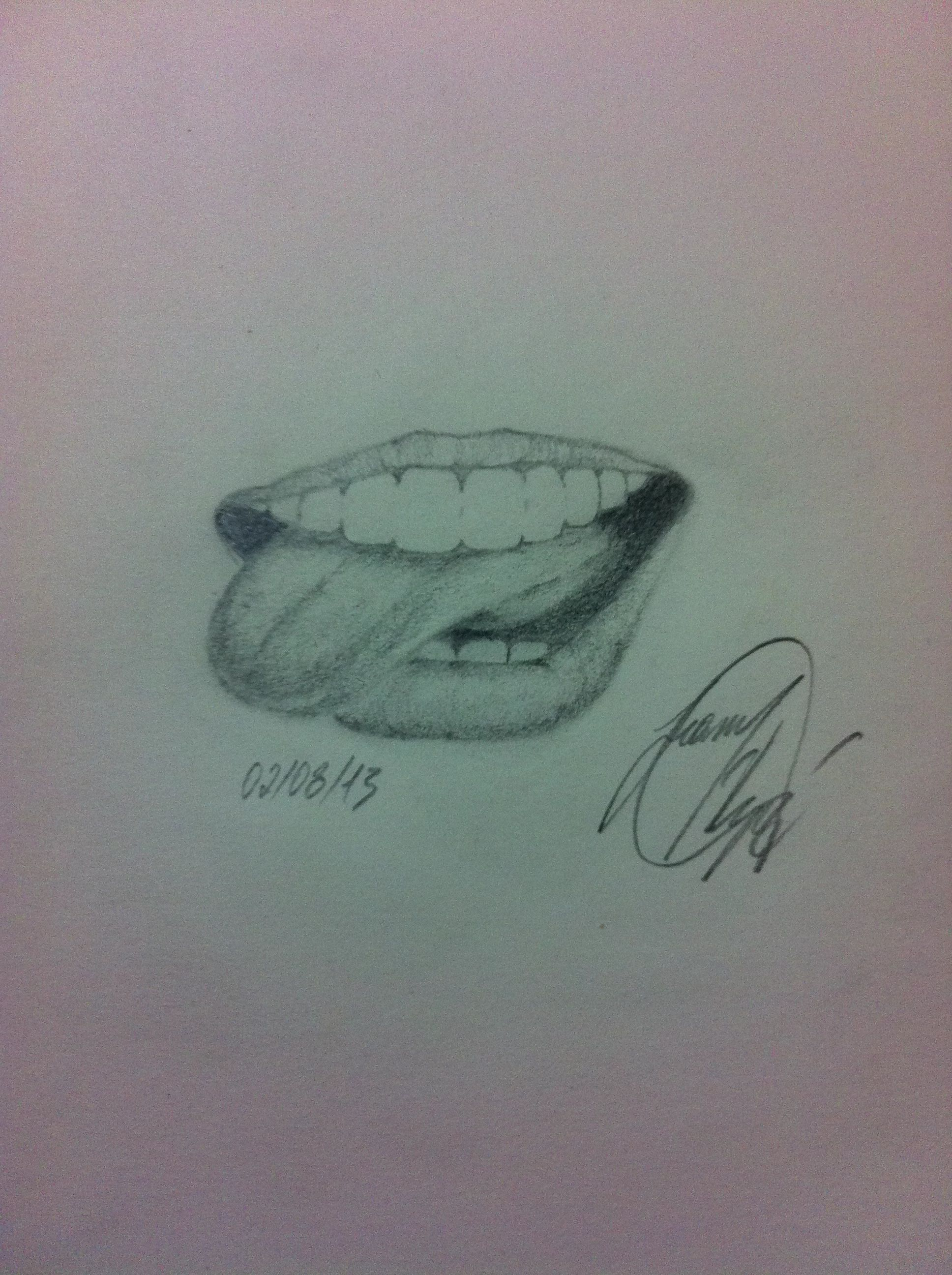 Mouth drawing realistic tongue art pencil my drawings in 2019