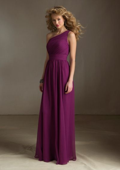 Simple Purple Bridesmaid Dress #long #oneshoulder https://www.facebook.com/DreampurpleUK