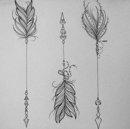 Tattoo feather arrow beautiful 32 ideas