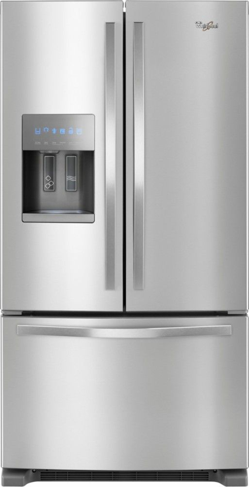 Whirlpool 247 Cu Ft French Door Refrigerator Stainless Steel