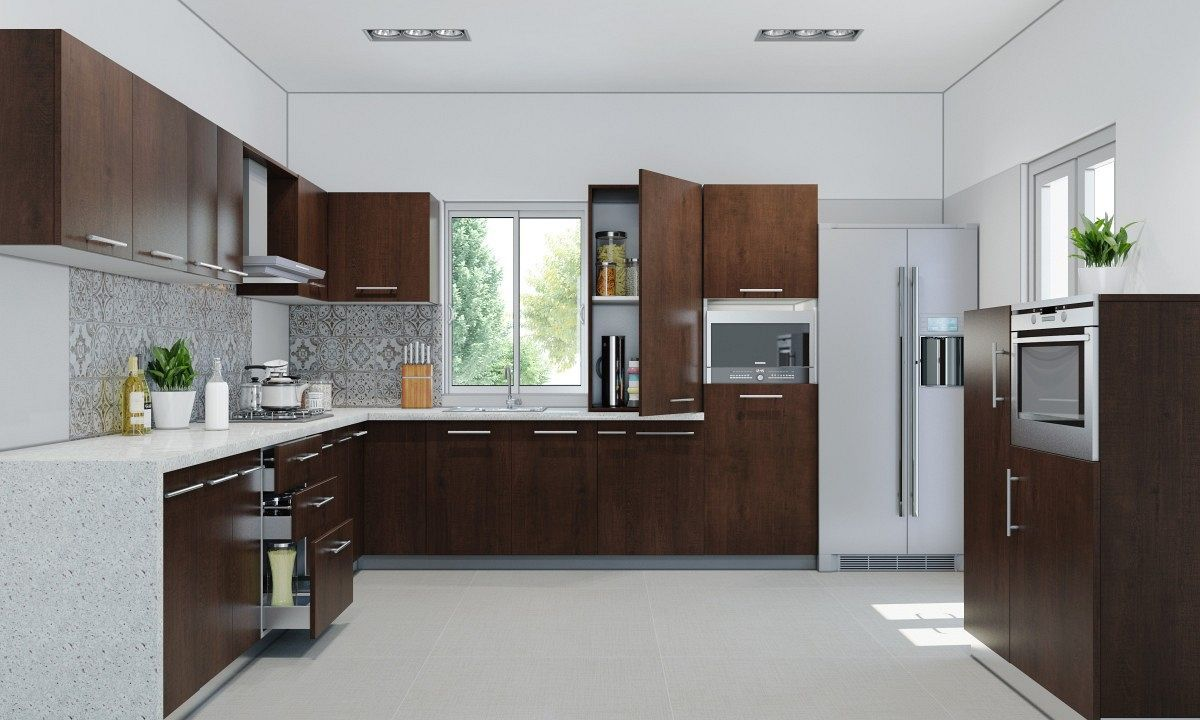 small modular kitchen design india with kitchen island