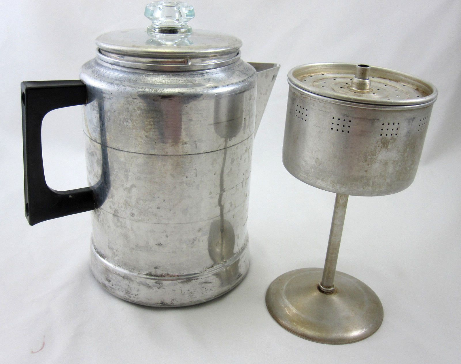 Comet Aluminum Coffee Pot 9 Cup Vintage Stovetop Percolator Made In Usa Campfire